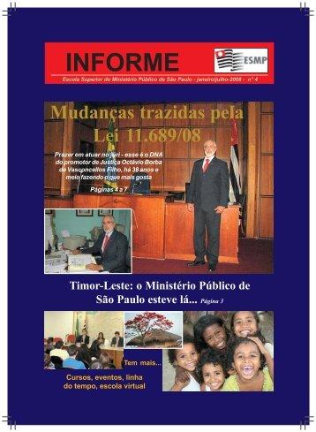 INFORME - Escola Superior do Ministério Público