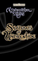 Neverwinter Nights Shadows of Undrentide - O Mundo