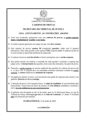 PRIMEIRA PROVA - Concursos Públicos