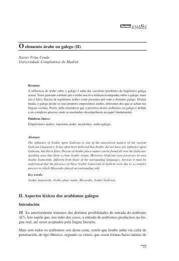 O elemento árabe en galego (II) - RUC