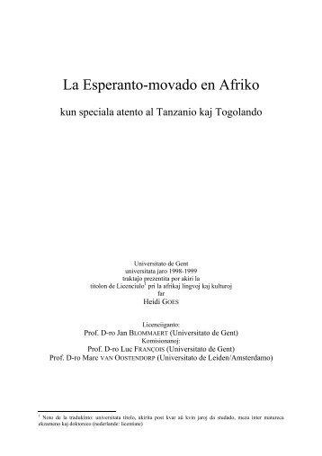 La Esperanto-movado en Afriko - Universala Esperanto-Asocio