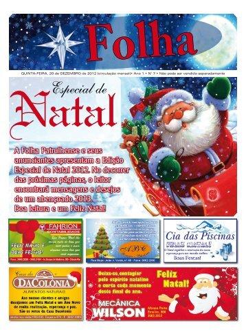 A Folha Patrulhense e seus anunciantes apresentam a Edição ...