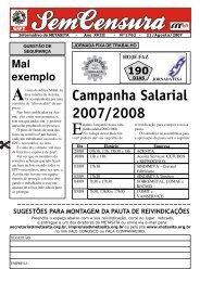 Campanha Salarial 2007/2008 - CNM/CUT