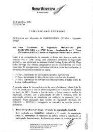 Comunicado Externo 015/2011-DO - BM&FBovespa