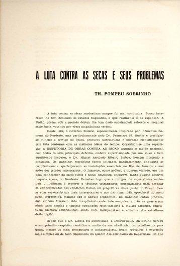 A luta contra as sêcas e seus problemas - Portal da História do Ceará
