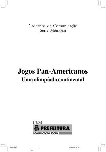 Jogos Pan-Americanos - Uma olimpíada continental - Portal da ...