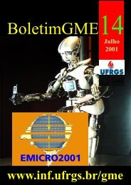 Boletim GME Julho 2001 - Instituto de Informática - Ufrgs