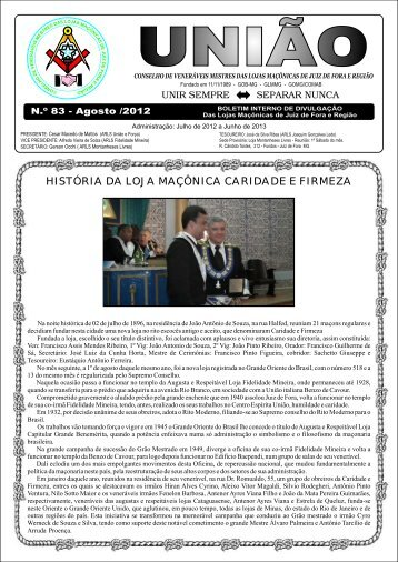 história da loja maçônica caridade e firmeza - Covemelomajfer.com.br