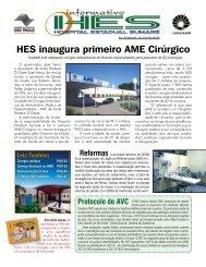 HES inaugura primeiro AME Cirúrgico - Hospital Estadual Sumaré ...