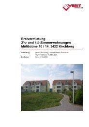 Vermietungsdoku Mülibüüne 10 u. 14, Kirchberg - VERIT Immobilien