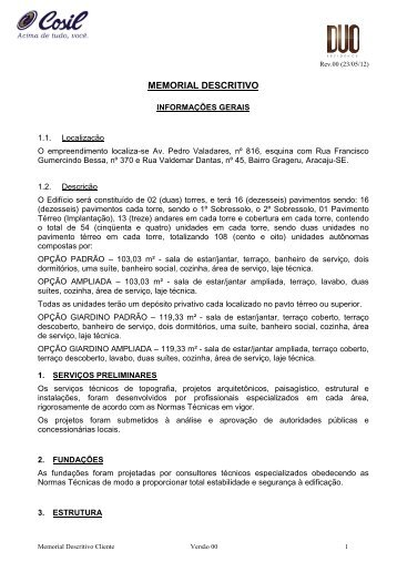 Memorial Descritivo Pedro Valadares - rev 02 _final_ - Cosil