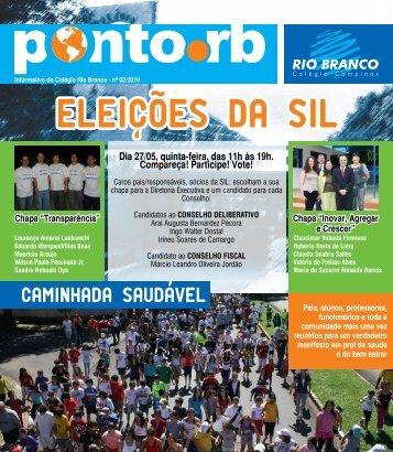 Boletim Eletrônico Ponto RB - fevereiro 2010 - Colégio Rio Branco