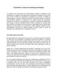 O presente e o futuro do Coaching em Portugal - Egor