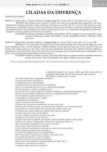CILADAS DA DIFERENÇA - fflch - USP