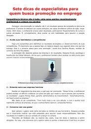 Acesse aqui as Sete dicas especiais para quem - AGENDE Guarulhos