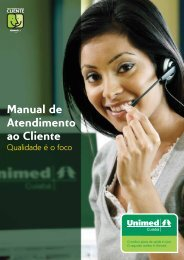 Manual de Atendimento ao Cliente - Portal Unimed Cuiabá