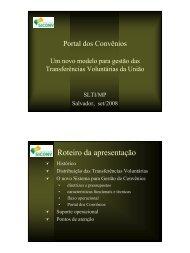 Portal dos Convênios - SEFANET