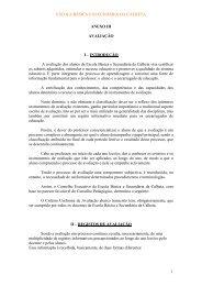 INTRODUÇÃO A avaliação dos alunos da Escola Básica e