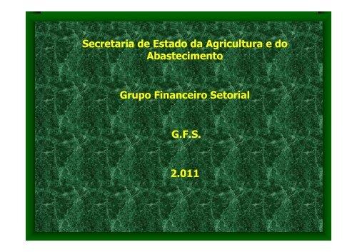 GFS - Secretaria da Agricultura e Abastecimento - Estado do Paraná
