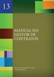 MANUAL DO GESTOR DE CONTRATOS - ce