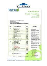 Cream Foundation - Inutec SP1 - COSSMA