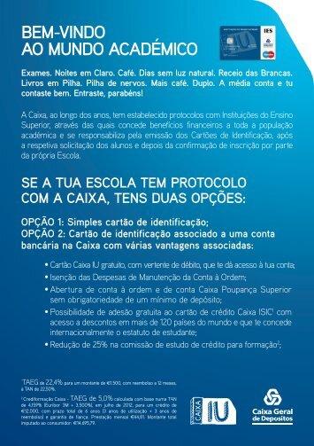Informações para adesão/pedido de cartão de estudante (C.G.D.)