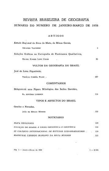 REVISTA BRASILEIRA DE GEOGRAFIA - Biblioteca - IBGE