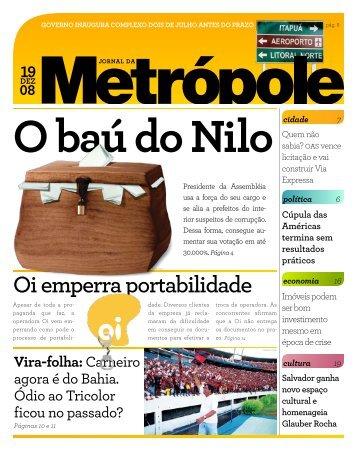 O baú do Nilo Oi emperra portabilidade - Jornal da Metrópole