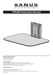 FPA400 Instruction Manual - Sanus