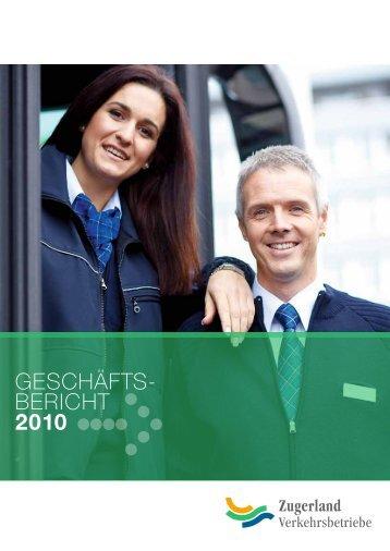 Geschäftsbericht - Die Zugerland Verkehrsbetriebe