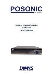 MANUAL DE CONFIGURAÇÃO SÉRIE P800x DVRs 8008 e 8006