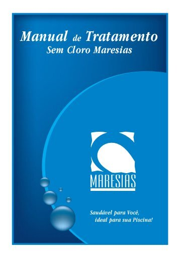 Manual Tratamento de Sem Cloro Maresias - campos piscinas