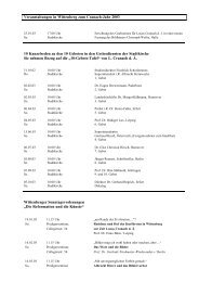 Veranstaltungen im Cranach-Jahr für Internet - Lucas Cranach