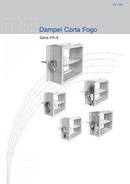 Damper Corta Fogo FK-A - powerfield.com.br
