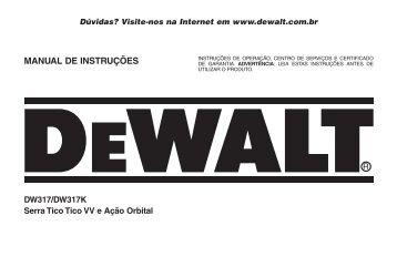 MANUAL DE INSTRUÇÕES - DeWalt