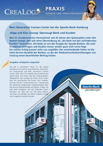Sparda-Bank Hamburg - CreaLog