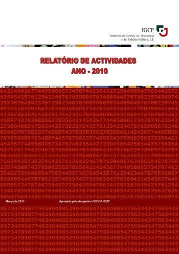 Relatório de Atividades do Ano 2010 - IGCP