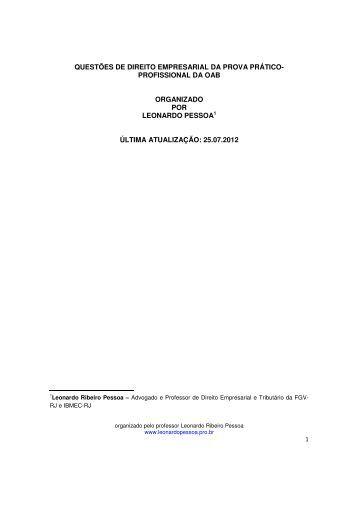 Questões Práticas de Direito Empresarial - Leonardo Pessoa