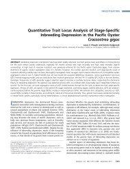 Quantitative Trait Locus Analysis of Stage-Specific ... - Genetics