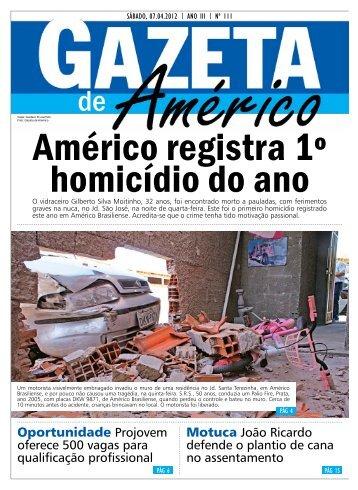 Oportunidade Projovem - Gazeta de Américo