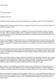 Fonte: O Globo De volta ao passado Rodrigo Constantino ... - aarffsa