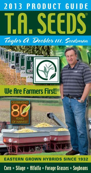 Download our 2013 Product Guide - TA Seeds