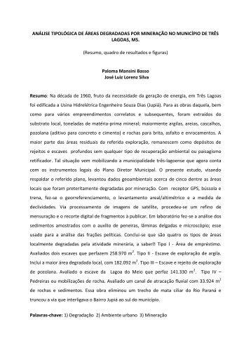 Três Lagoas, MS.: Áreas degradadas por mineração - José Luiz ...