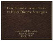 15 Killer Divorce Strategies
