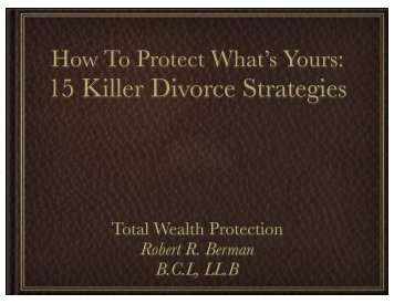 15 Killer Divorce Strategies