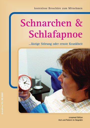 Schnarchen & Schlafapnoe - bei Crossmed