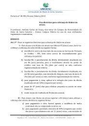 Portaria nº 38-VRC/Unoesc-Videira/2010