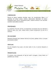COMPOSICIÓN Mezcla de grasas vegetales ... - ACEITES FINOS