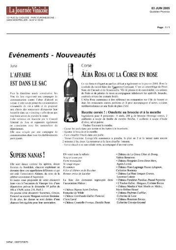 journee vinicole - Les vignerons Corsican