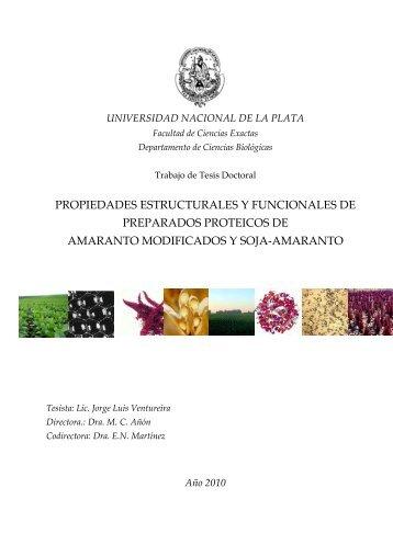 propiedades estructurales y funcionales de preparados proteicos de ...